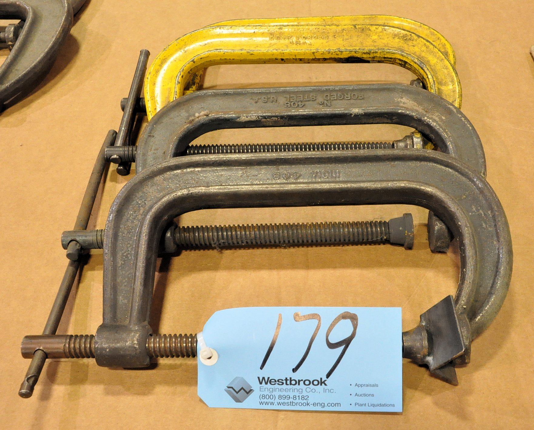 """Lot-(4) 8"""" C-Clamps"""