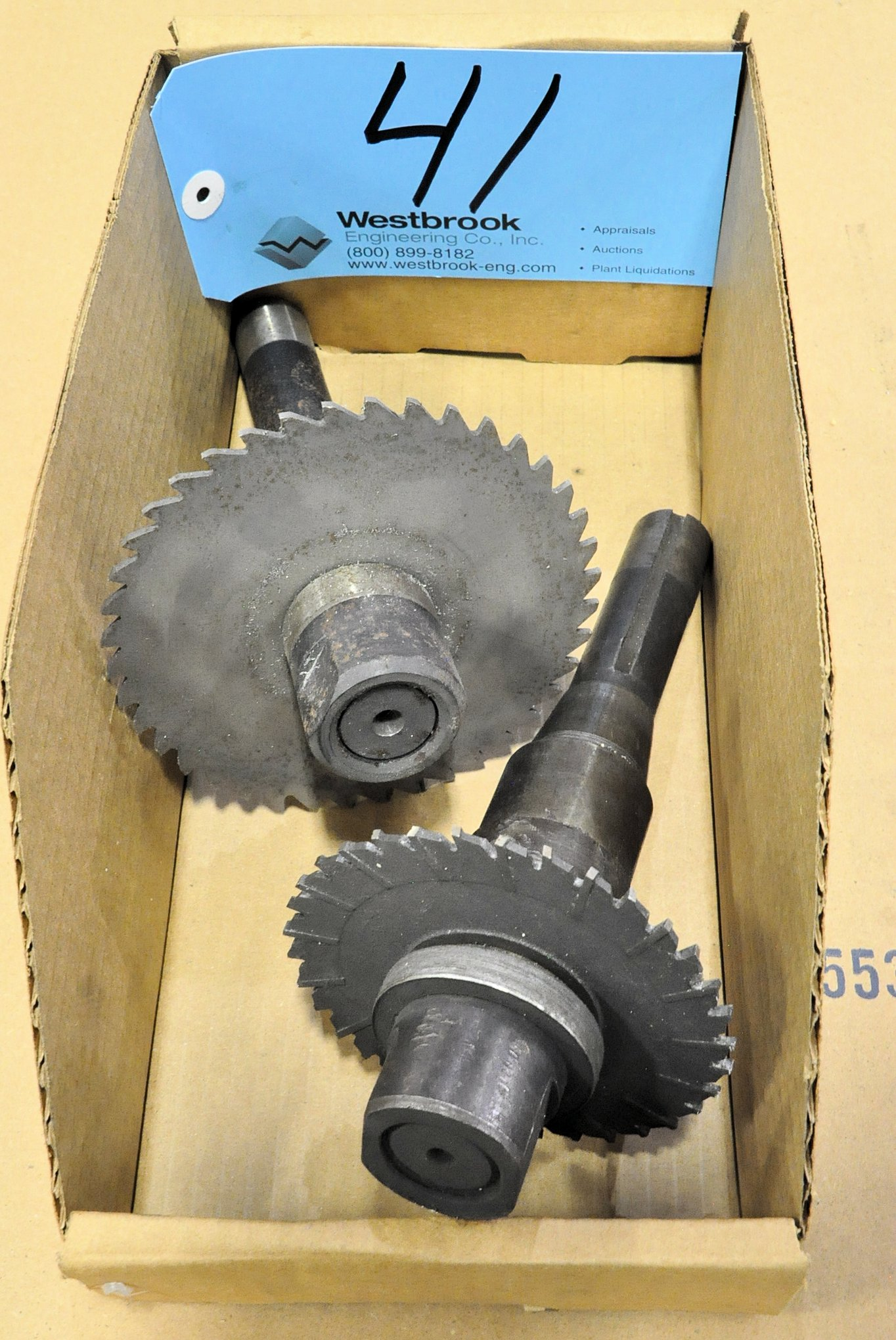 Lot-(2) R8 Tool Holders with Milling Cutters in (1) Box