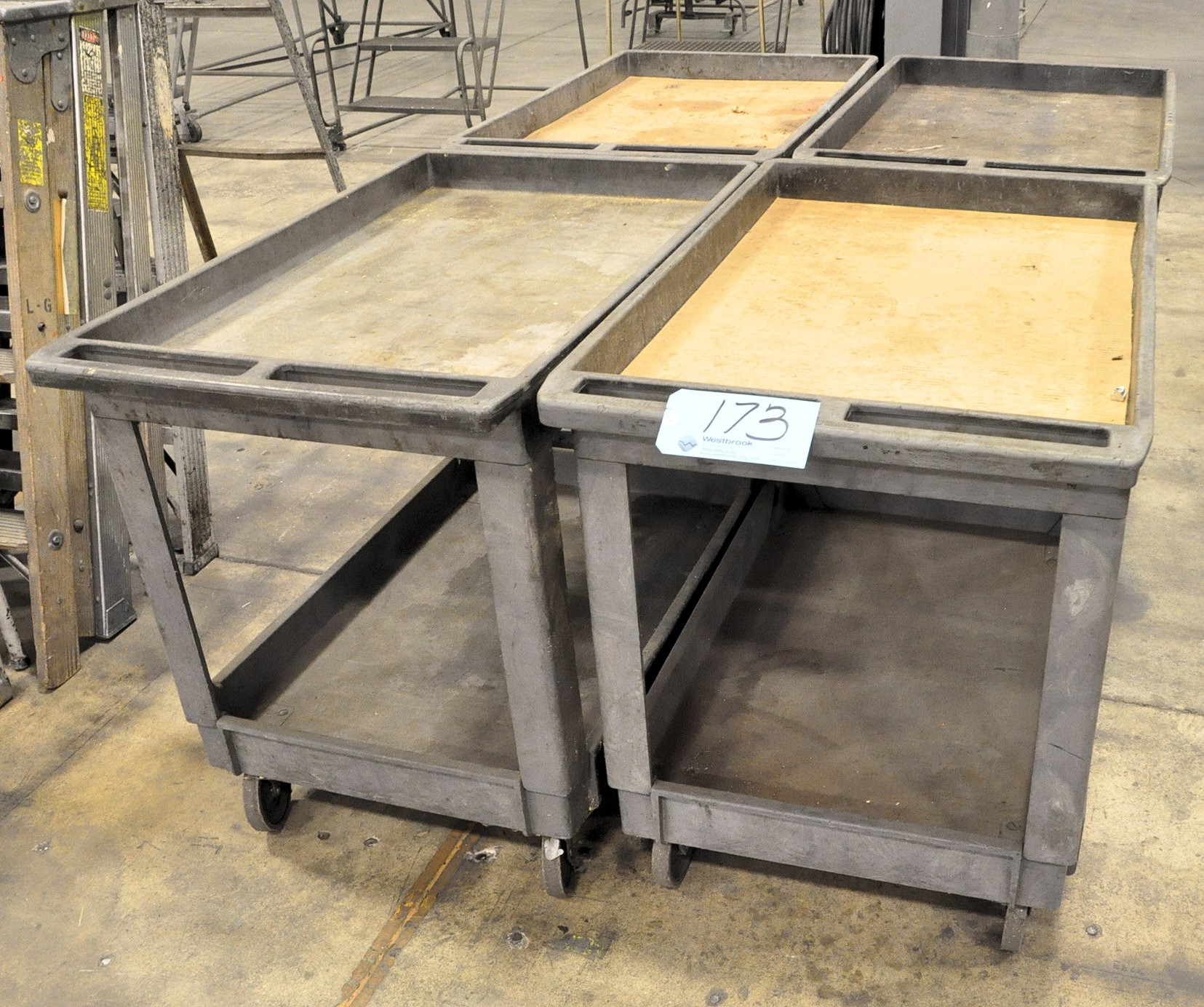Lot-(4) Rubbermaid Type Shop Carts