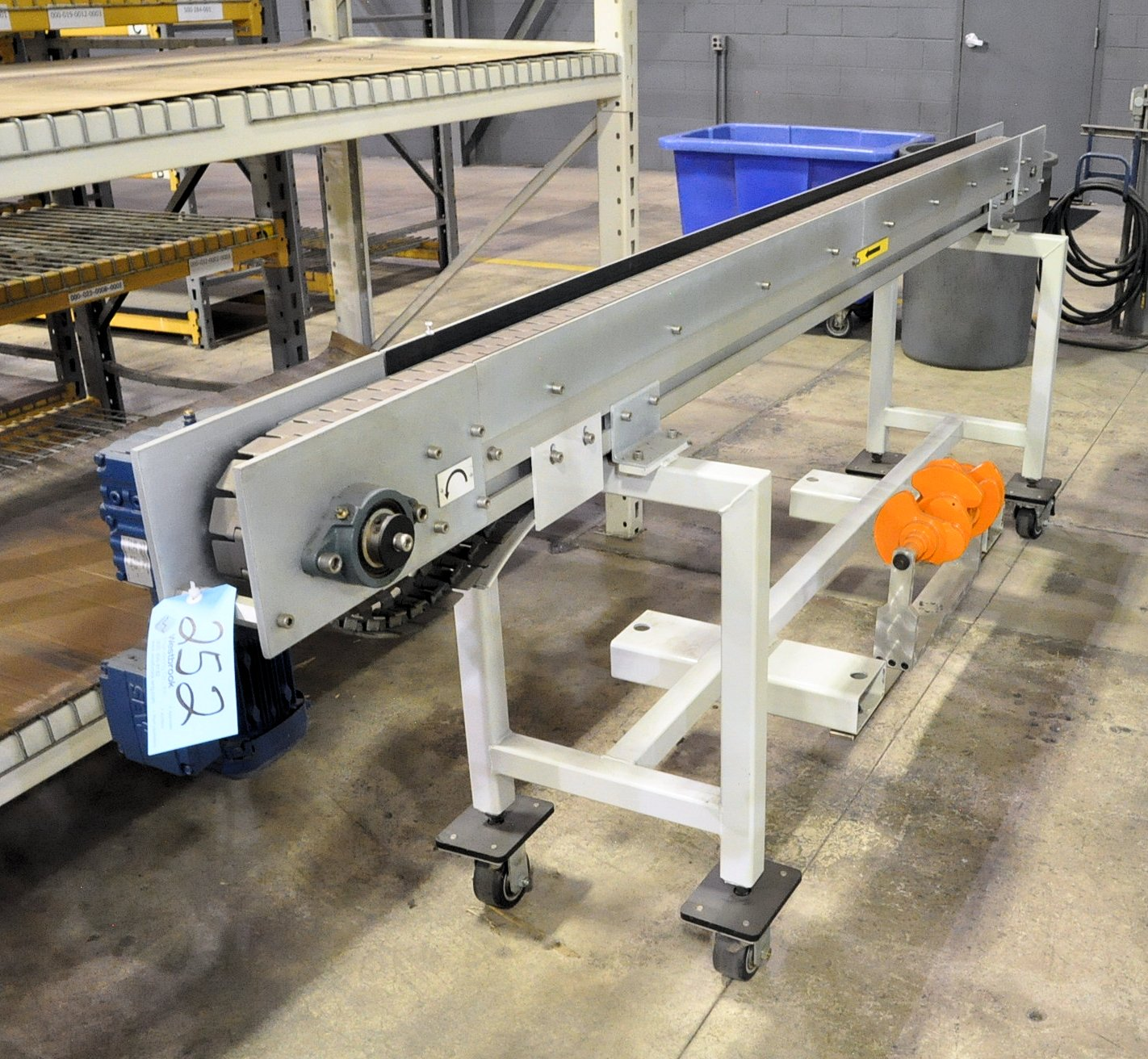 3-Meter Steel Flat Top Chain Conveyor, with SEW Electric Drive