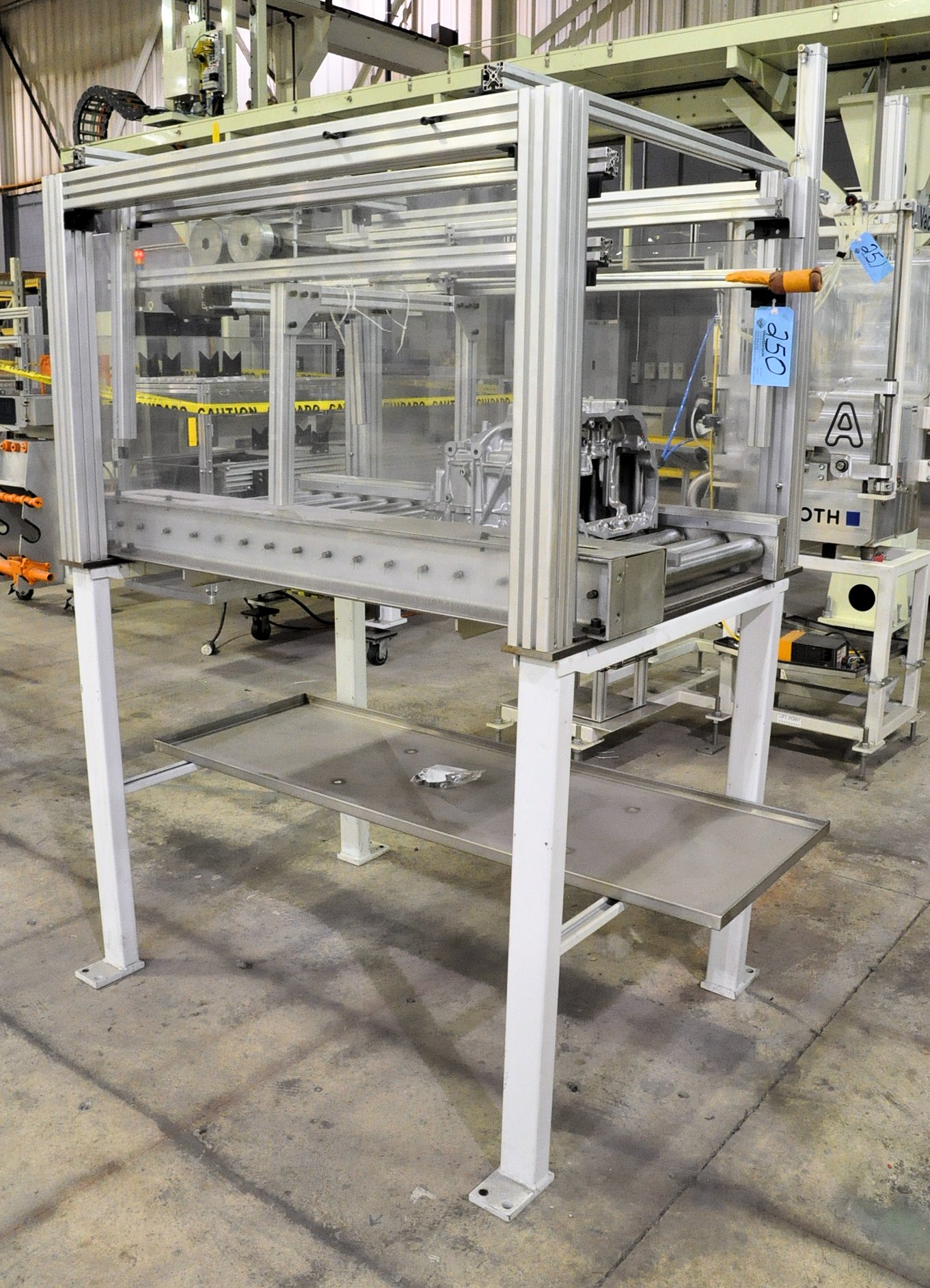1.5 Meter Long Direct Drive Roller Conveyor with Pneumatic Blow-Off