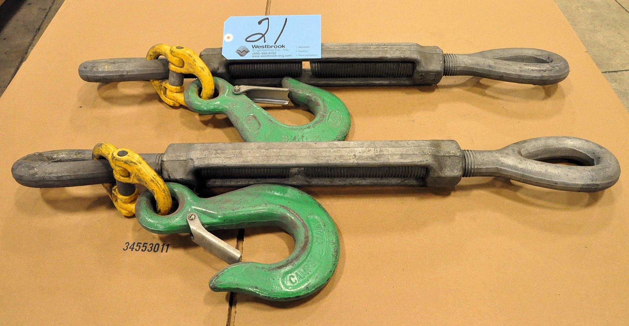 Lot-(2) Turnbuckles with Hooks