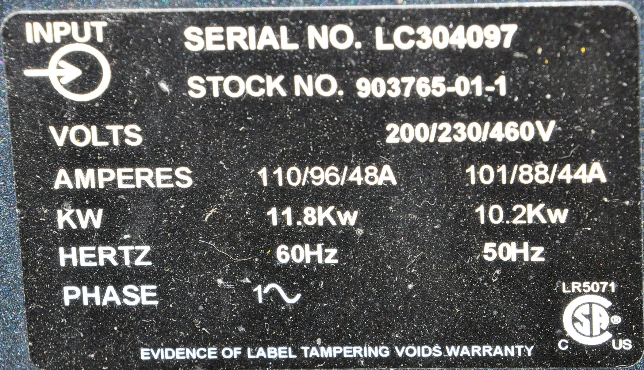 Miller Syncrowave 250 DX, 250-Amp Capacity CC AC/DC - Image 2 of 2