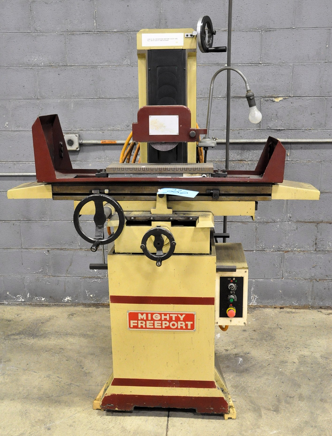 """Mighty Freeport Model SGS H618B, 6"""" x 18"""" Hand Feed Surface Grinder"""
