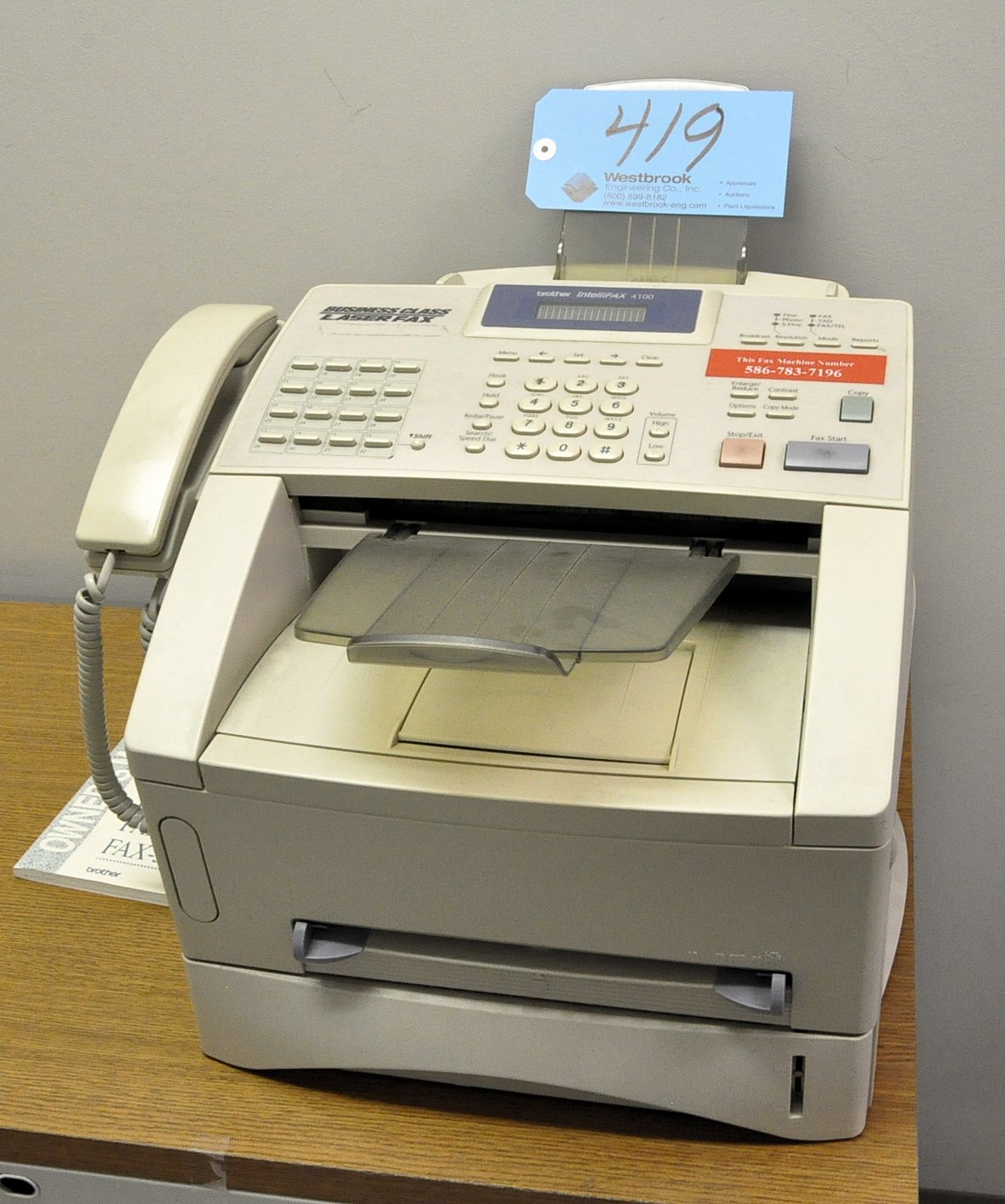 Lot-Brother Intellifax 4100, Fax Machine, Bunn Coffee Maker and 24""