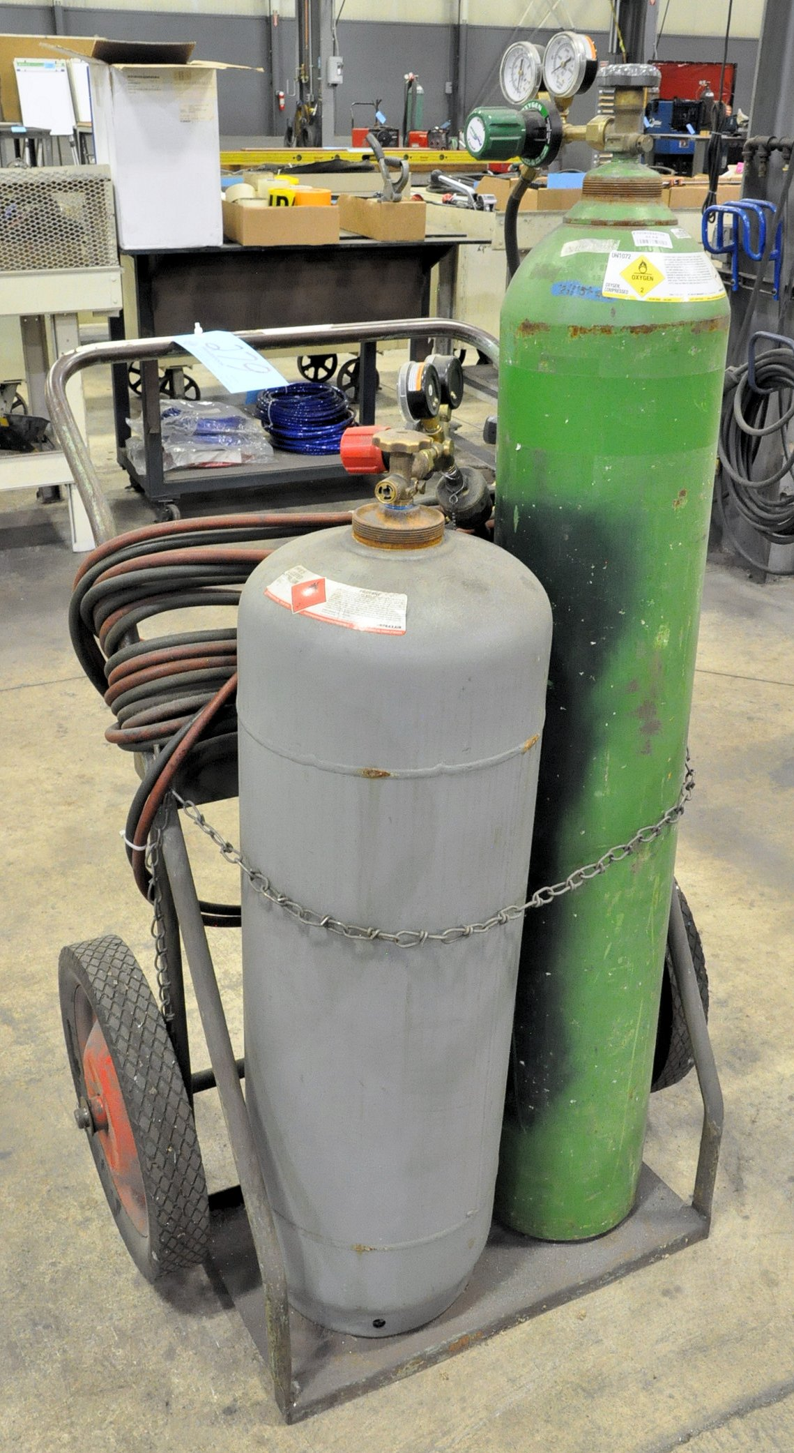 Oxygen/Acetylene Outfit with Cart, (Tanks Not Included)