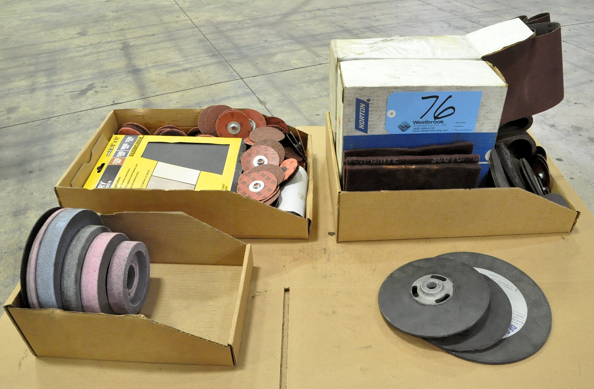 Lot-Sanding and Grinding Supplies in (3) Boxes