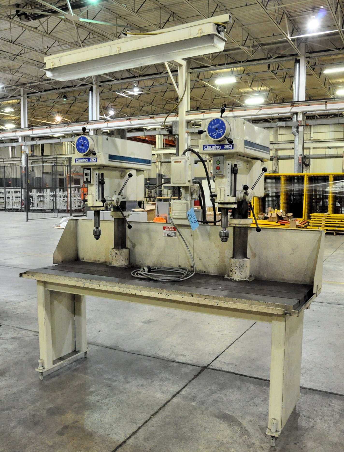 """Clausing Model 2284, 20"""" 2-Head Production Drill Press,"""