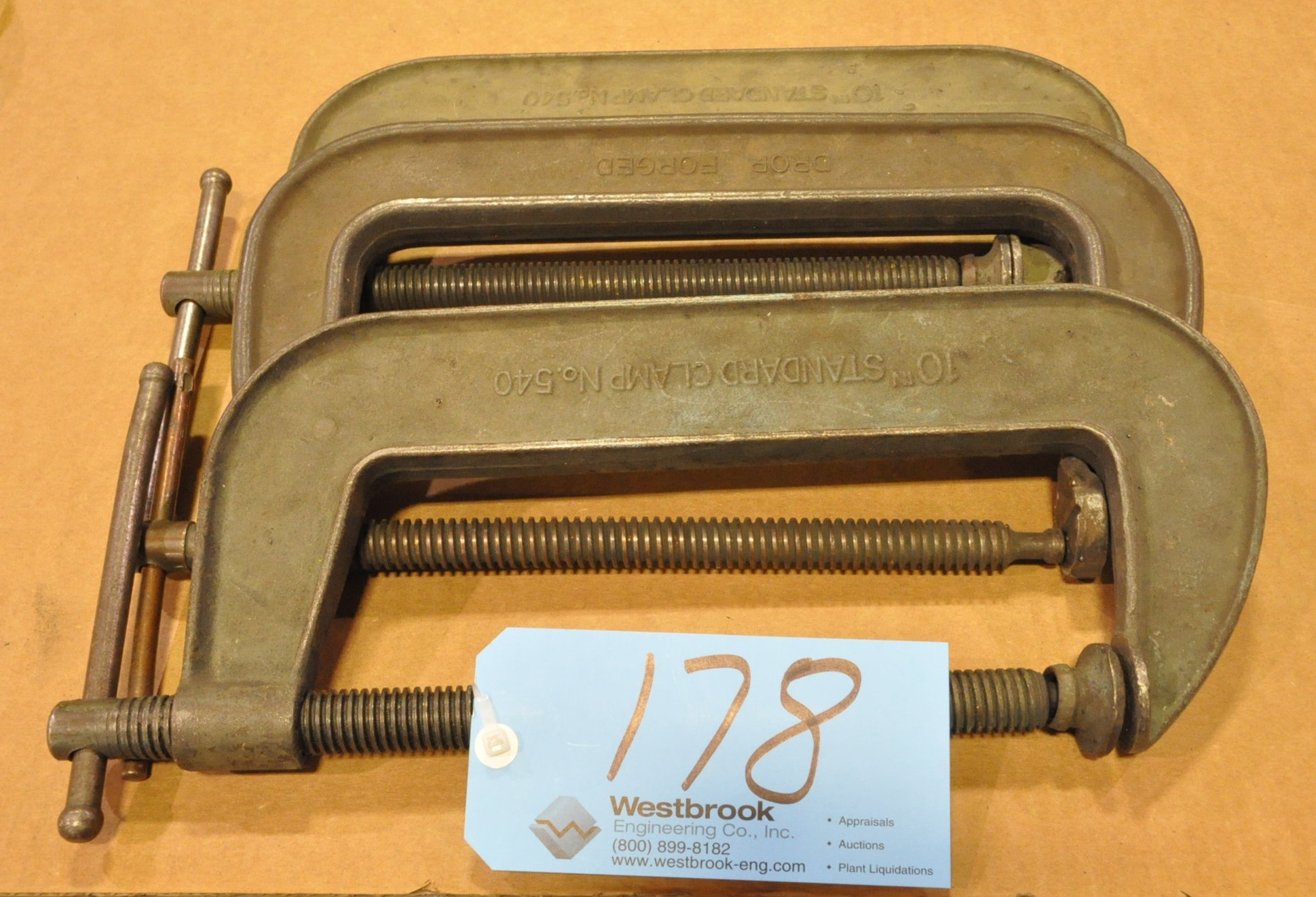 """Lot-(3) 10"""" C-Clamps"""