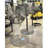 "Lot-(2) Dayton 24"" and (1) Patton 30"" Pedestal Shop Fans"