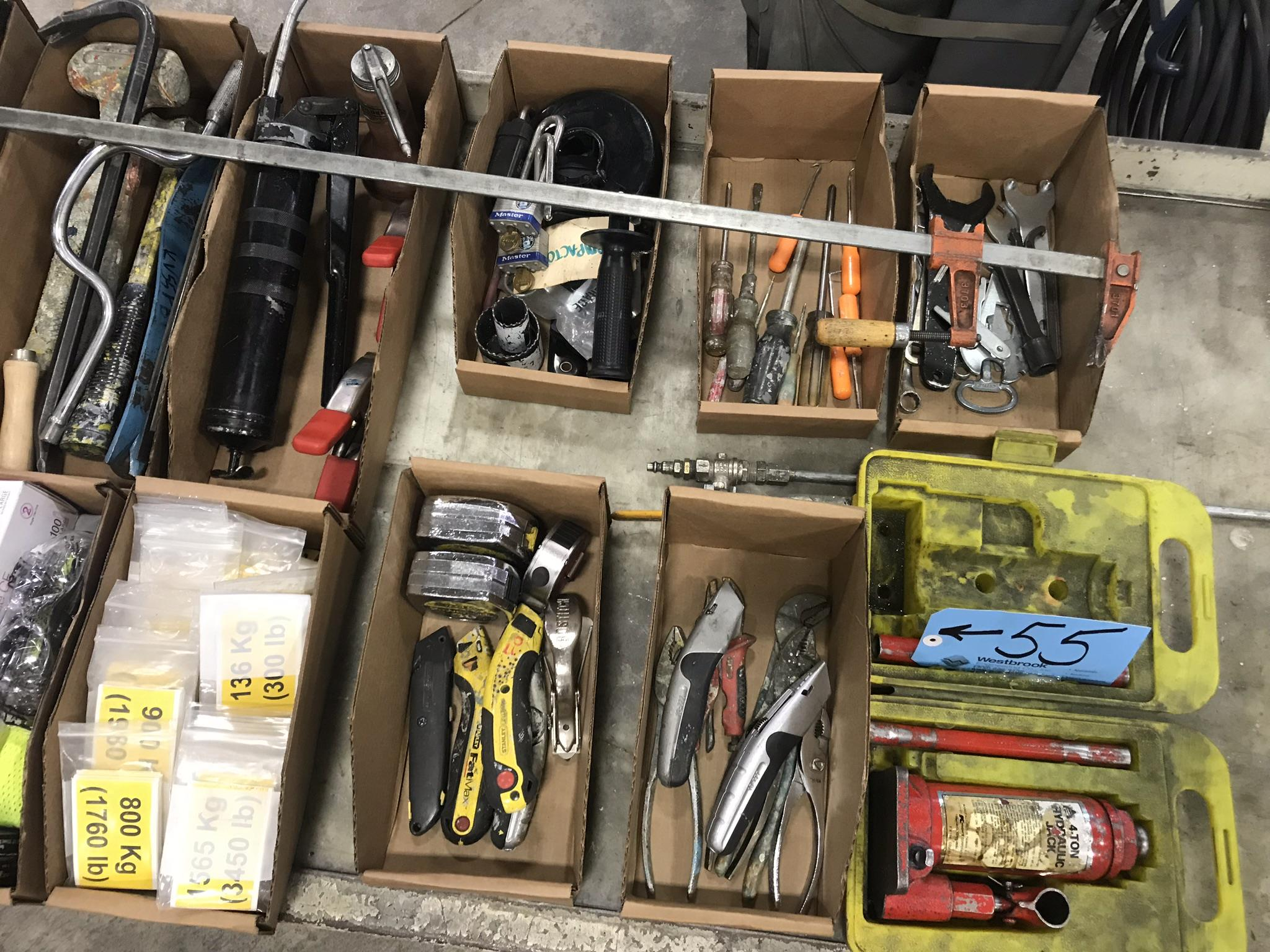 Lot-Asst'd Hand Tools in (11) Boxes with (1) 4-Ton Bottle Jack - Image 3 of 3