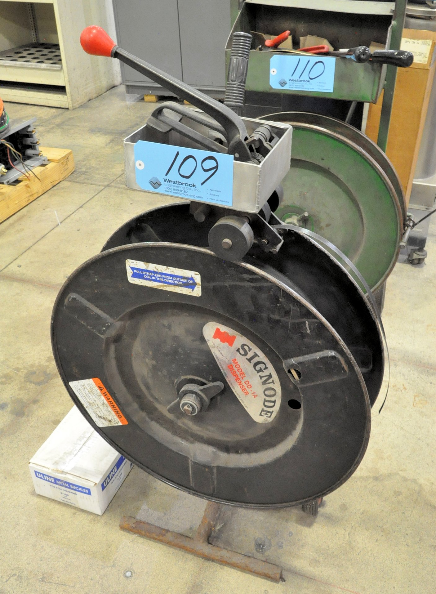 """1/2"""" Poly Banding Cart with Tools and Buckles Supply"""