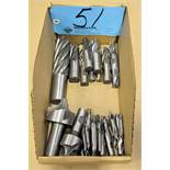 Lot-Single and Double End Mills in (1) Box