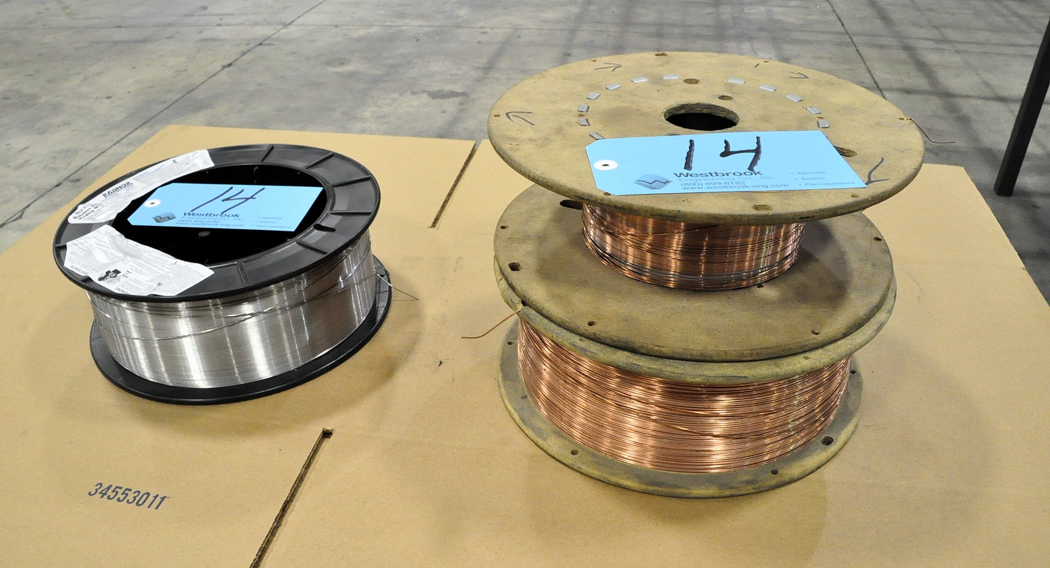 """Lot-(1) Partial Spool of Stainless Steel .035"""" Mig Welding Wire and"""