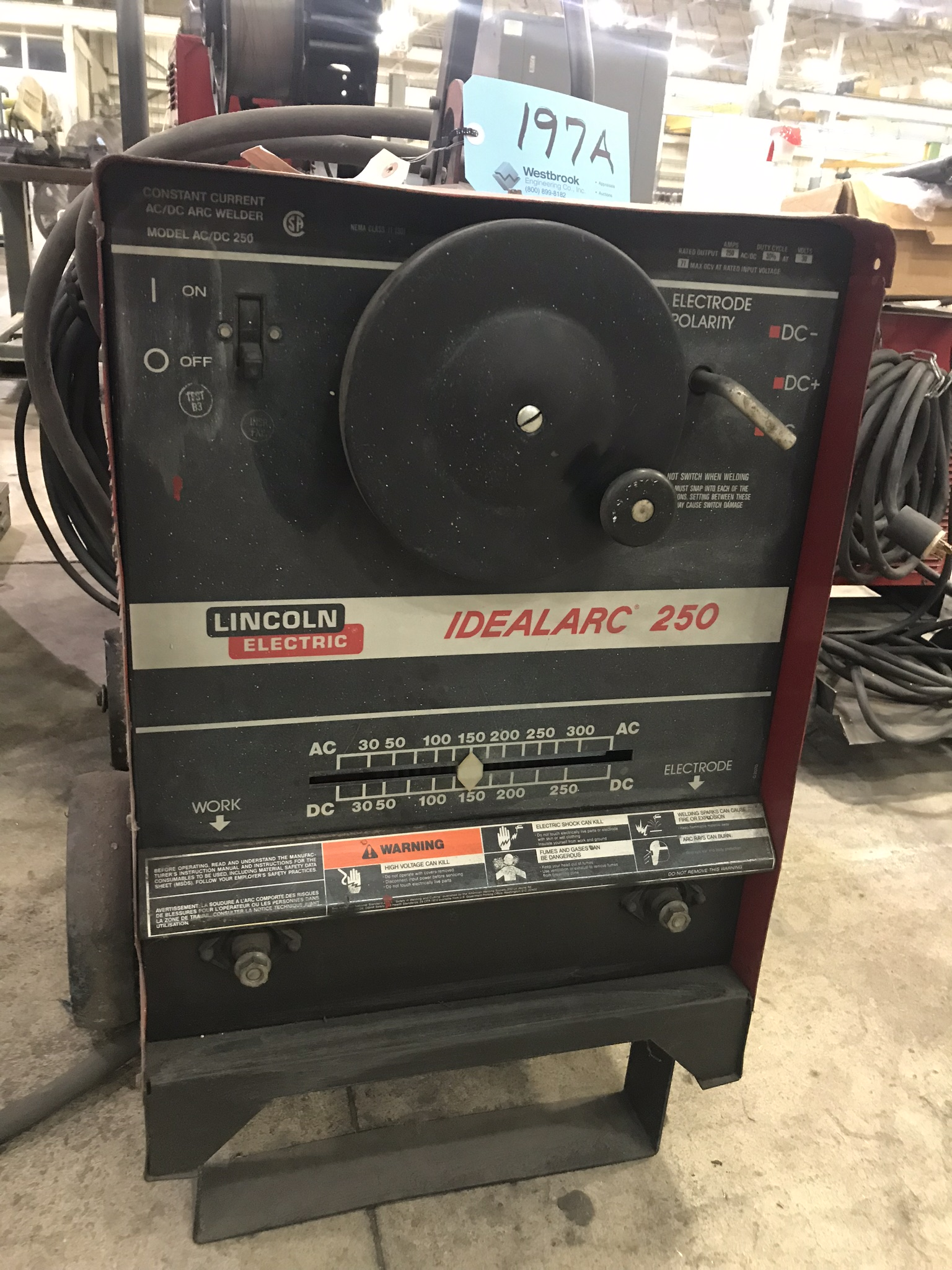 Lincoln Ideal Arc 250, 250 Amp Capacity, CC, AC/DC, Arc Welder