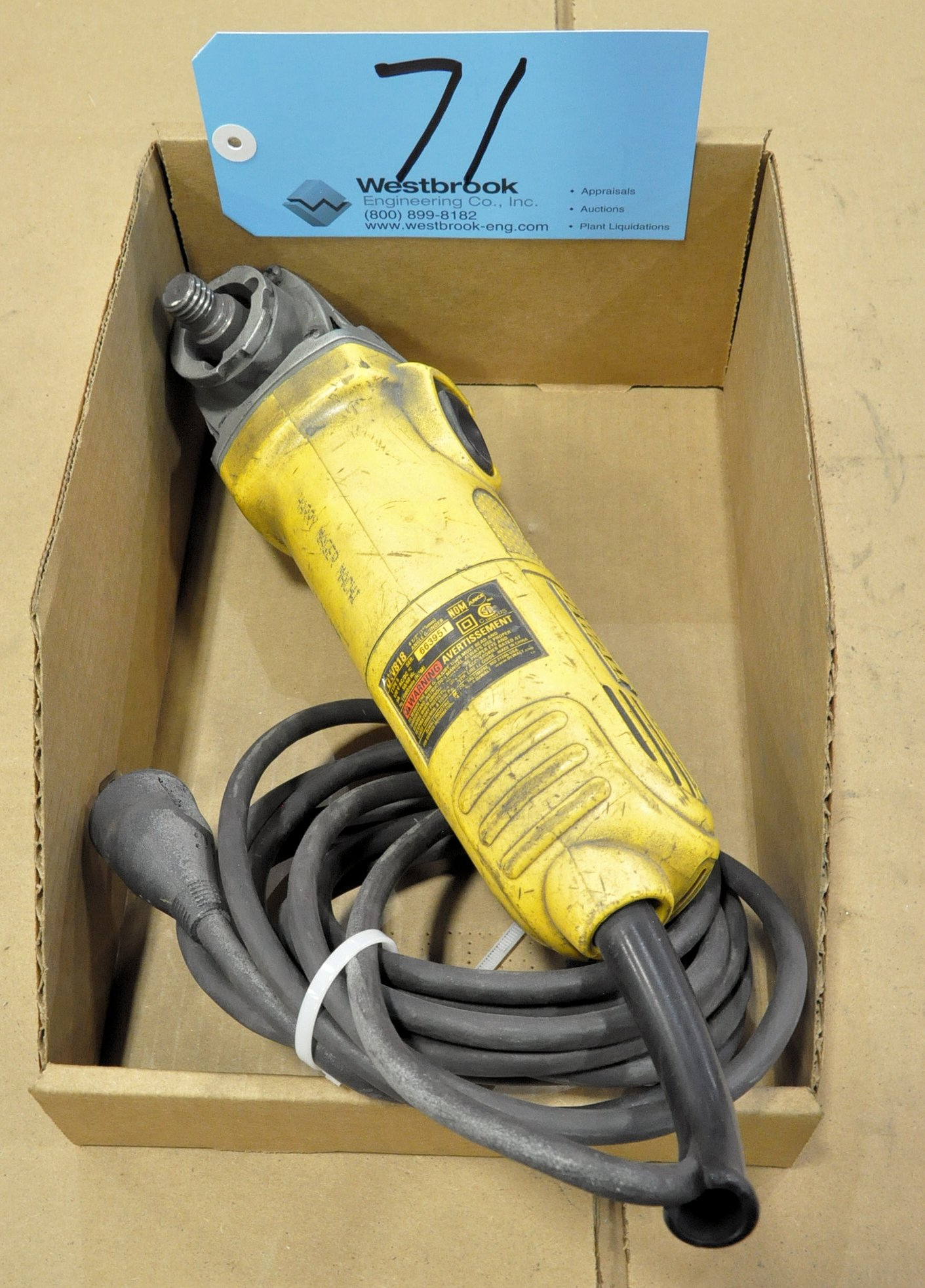 "DeWalt DW818, 4 1/2"" Electric Angle Grinder in (1) Box"
