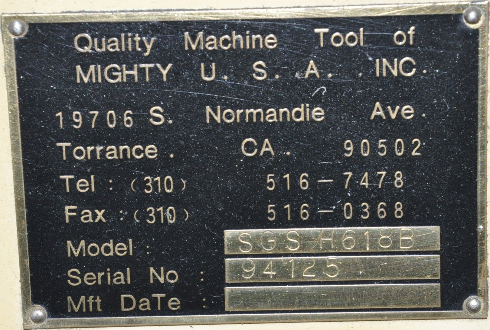 """Mighty Freeport Model SGS H618B, 6"""" x 18"""" Hand Feed Surface Grinder - Image 3 of 3"""