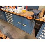 LISTA TYPE BUTCHER BLOCK WORK BENCH WITH DRAWERS