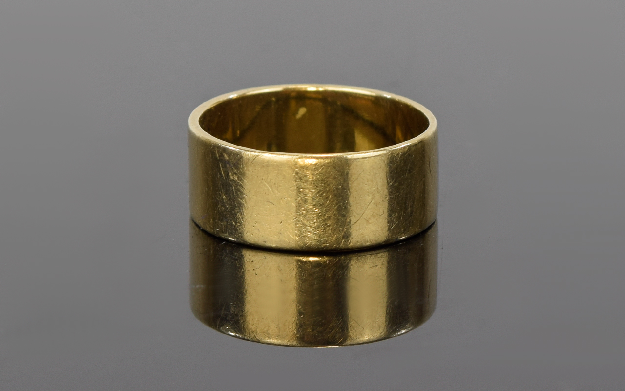 Lot 62 - Vintage Fully Hallmarked 9ct Gold Wedding Band. Ring Size P. 4.2 grams.