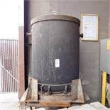 "48"" DIA. X 60"" ARC FURNACE CHARGE BUCKET, LEAF TYPE, W/ STAND"