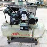 INGERSOLL RAND 7.5 HP AIR COMPRESSOR MODEL 2545, 120 GAL. TANK, S/N 1139350