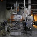 LECTROMELT 7' DIA. ROCKER TYPE ARC FURNACE, S/N 754 W/ CABLES (NOT WATER COOLED), SLAG DOOR, ROOF
