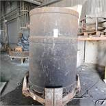 "48"" DIA. X 72"" ARC FURNACE CHARGE BUCKET, LEAF TYPE, W/ STAND"