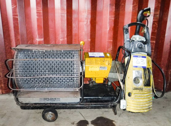 Direct from council youngman diesel workshop heater karcher for spares or repairs - Karcher k7 85 ...