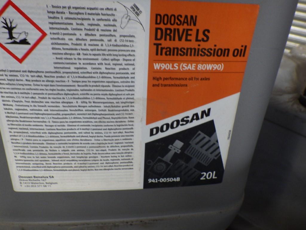 DOOSAN W90LS (SAE 80W90) DRIVE LS TRANSMISSION OIL HIGH PERFORMANCE FOR AXLES & TRANSMISSIONS, 20L - Image 3 of 4