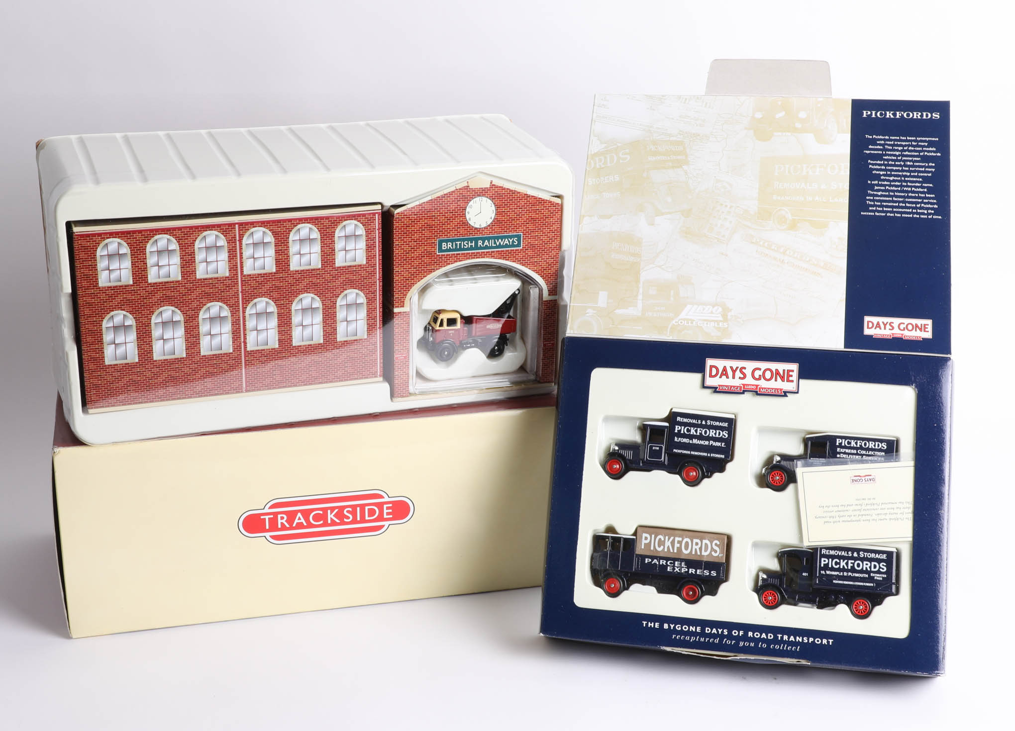 Two Days Gone 'The Bygone Days of Road Transport' sets including a British Rail depot and A.E.C.