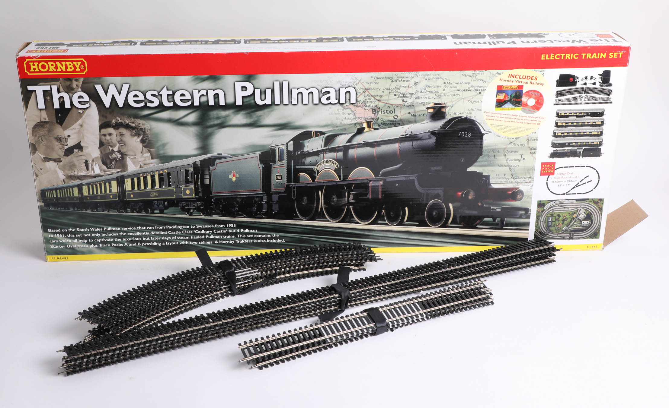 A Hornby train set 'The Western Pullman', including one locomotive, four carriages, a coal cart