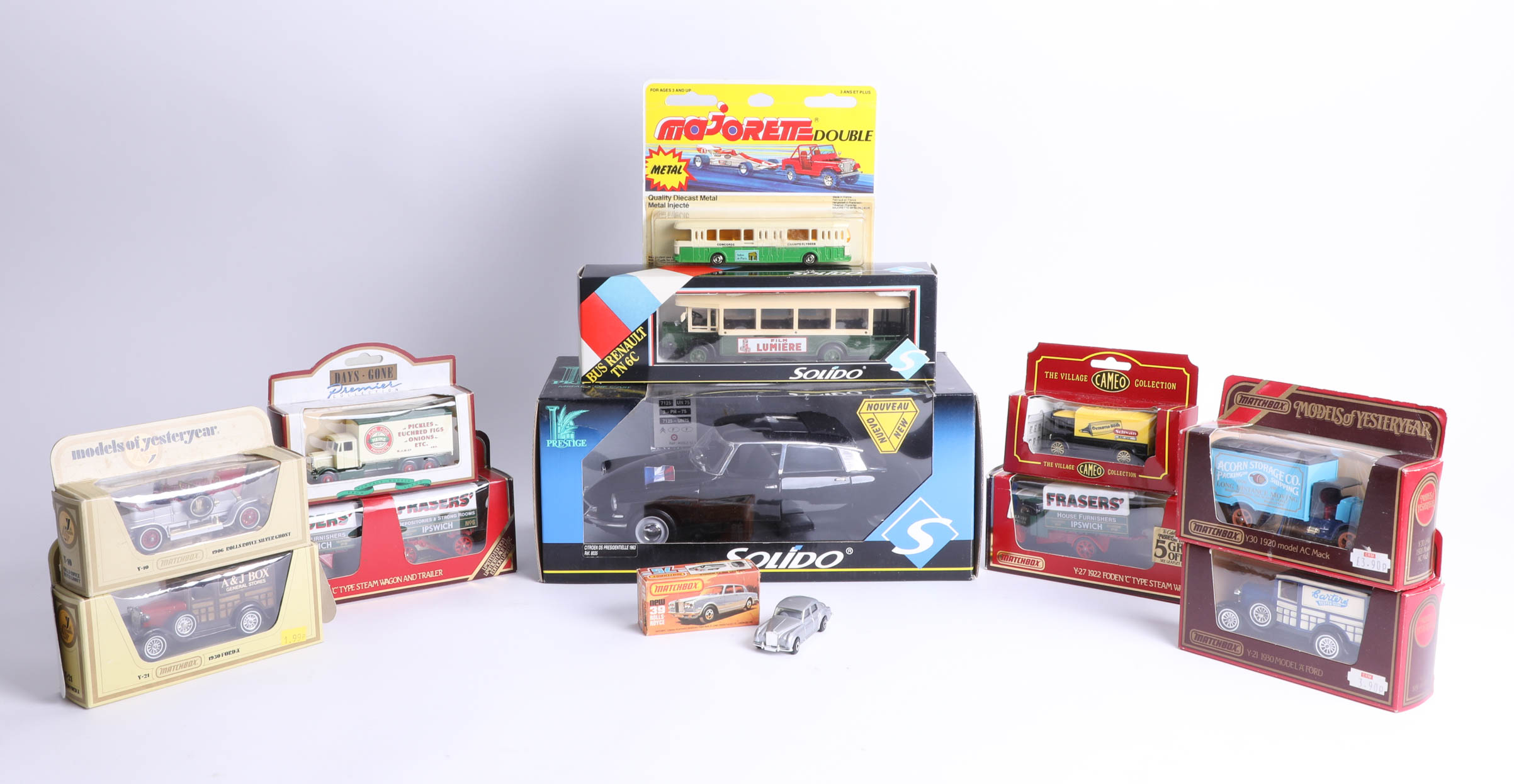 A collection of diecast models, including 'Models of Yesteryear'.