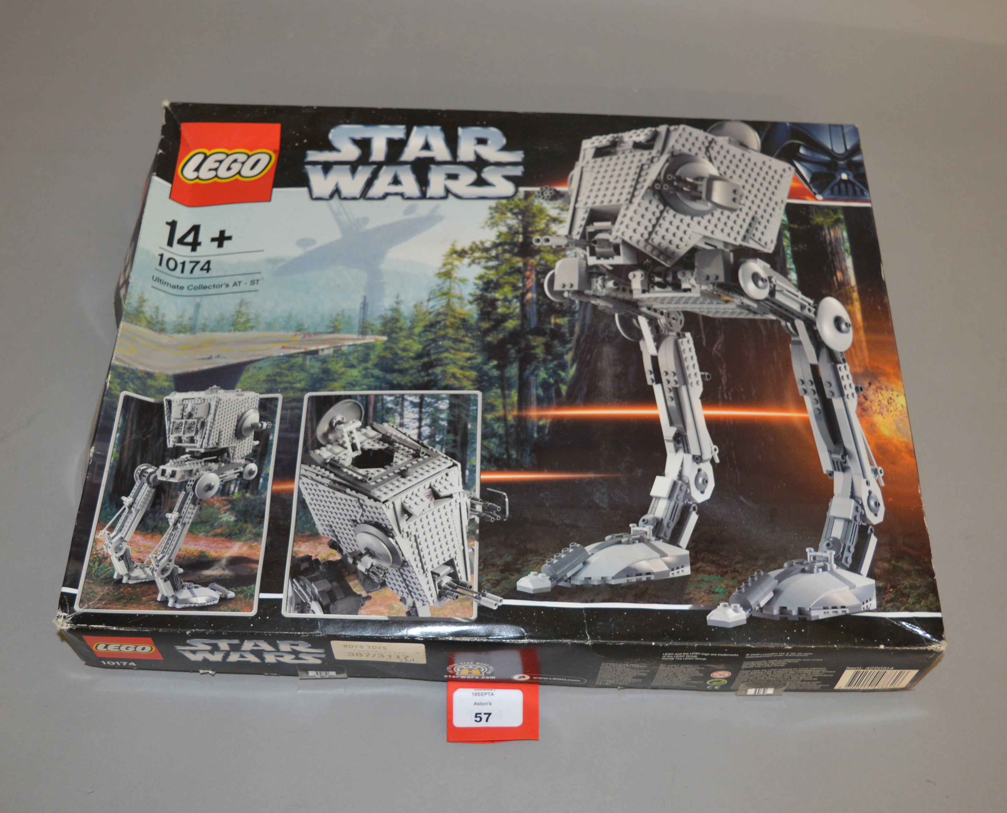 Lot 57 - Lego Star Wars 10174 'Ultimate Collector's AT-ST', sealed in generally F/G box with undulation,