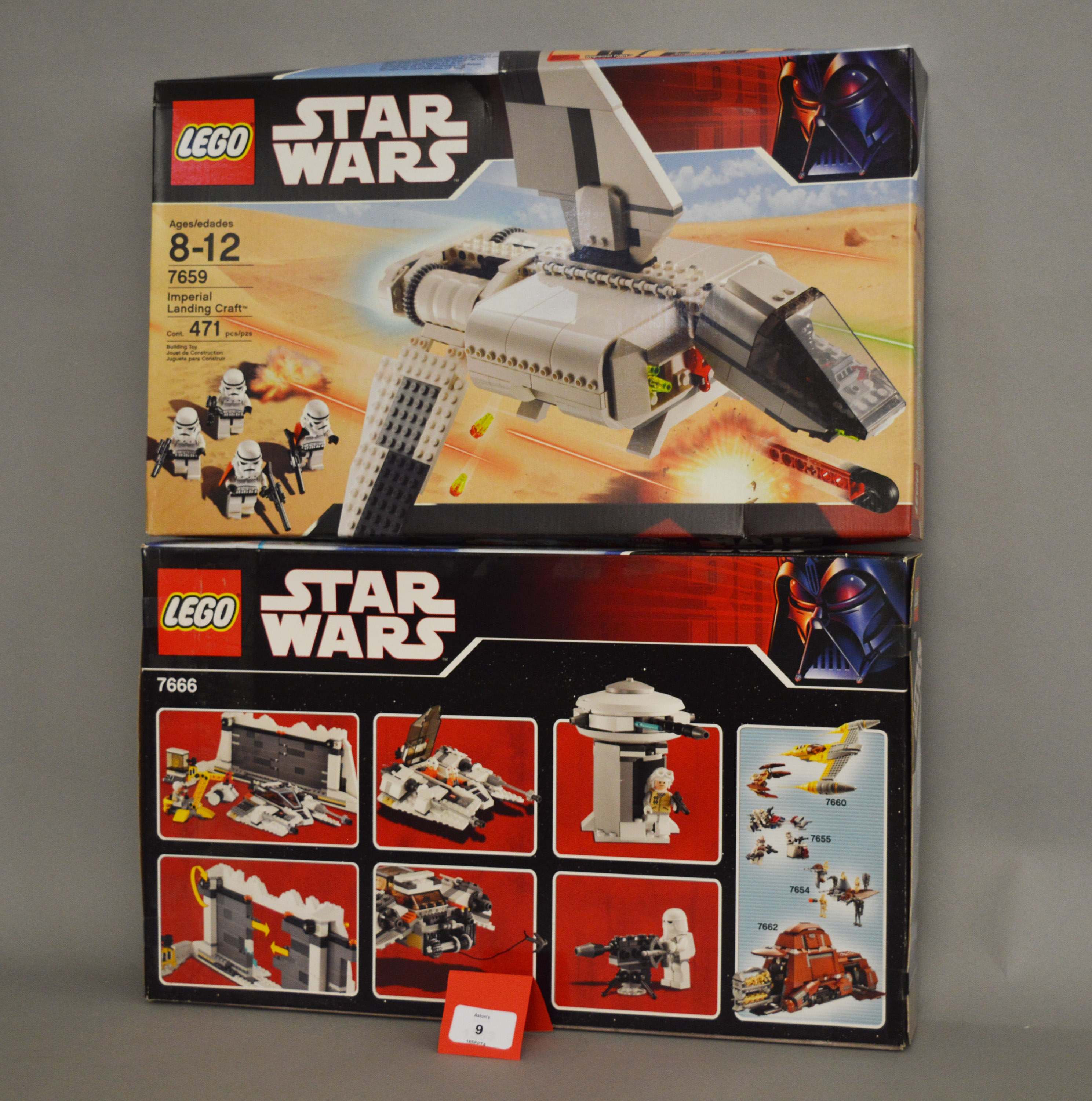 Lot 9 - Two Lego Star Wars sets: 7659 Imperial Landing Craft; 7666 Hoth Rebel Base. Both sealed.