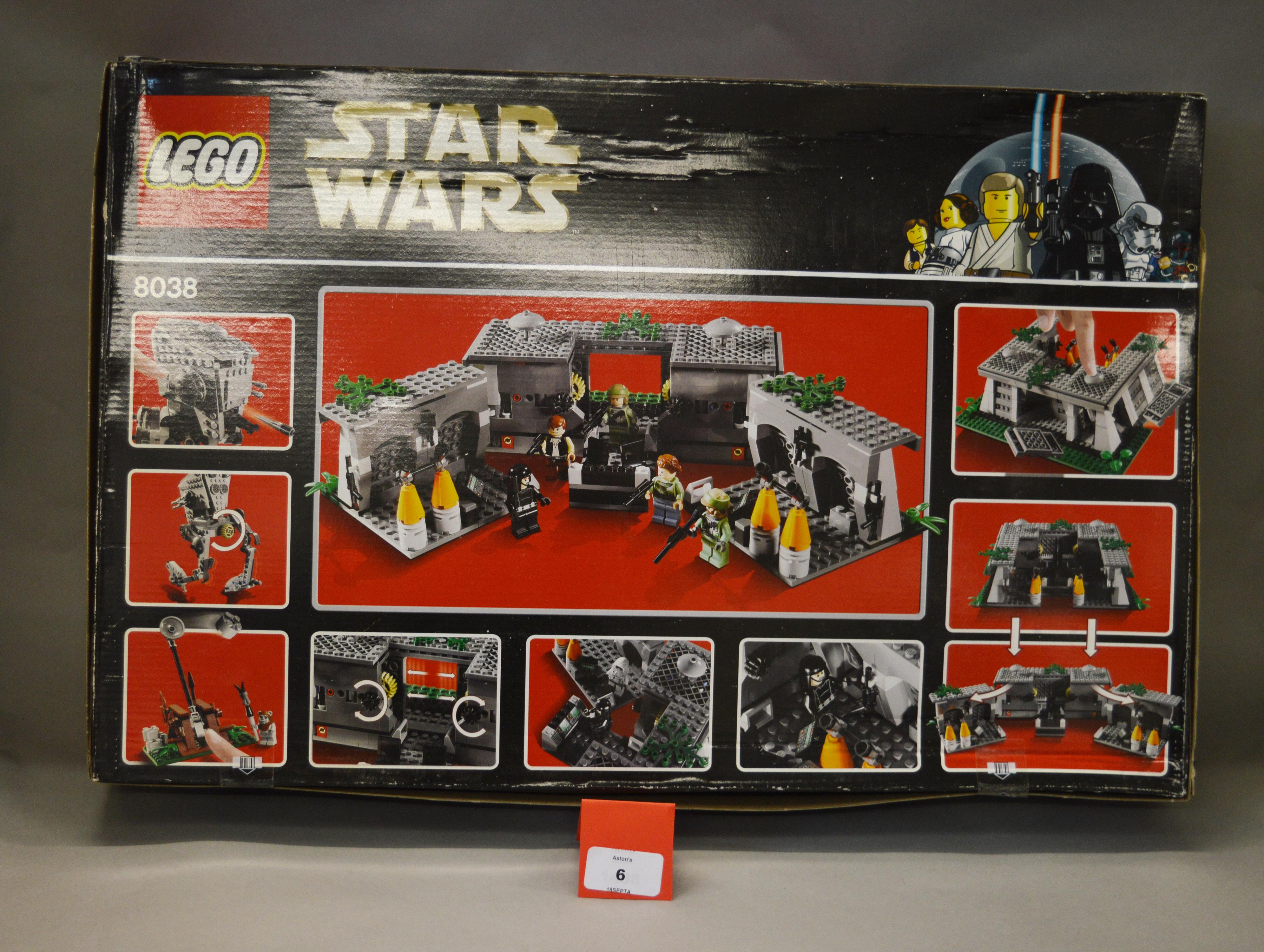 Lot 6 - Lego Star Wars 8038 The Battle of Endor. Sealed.