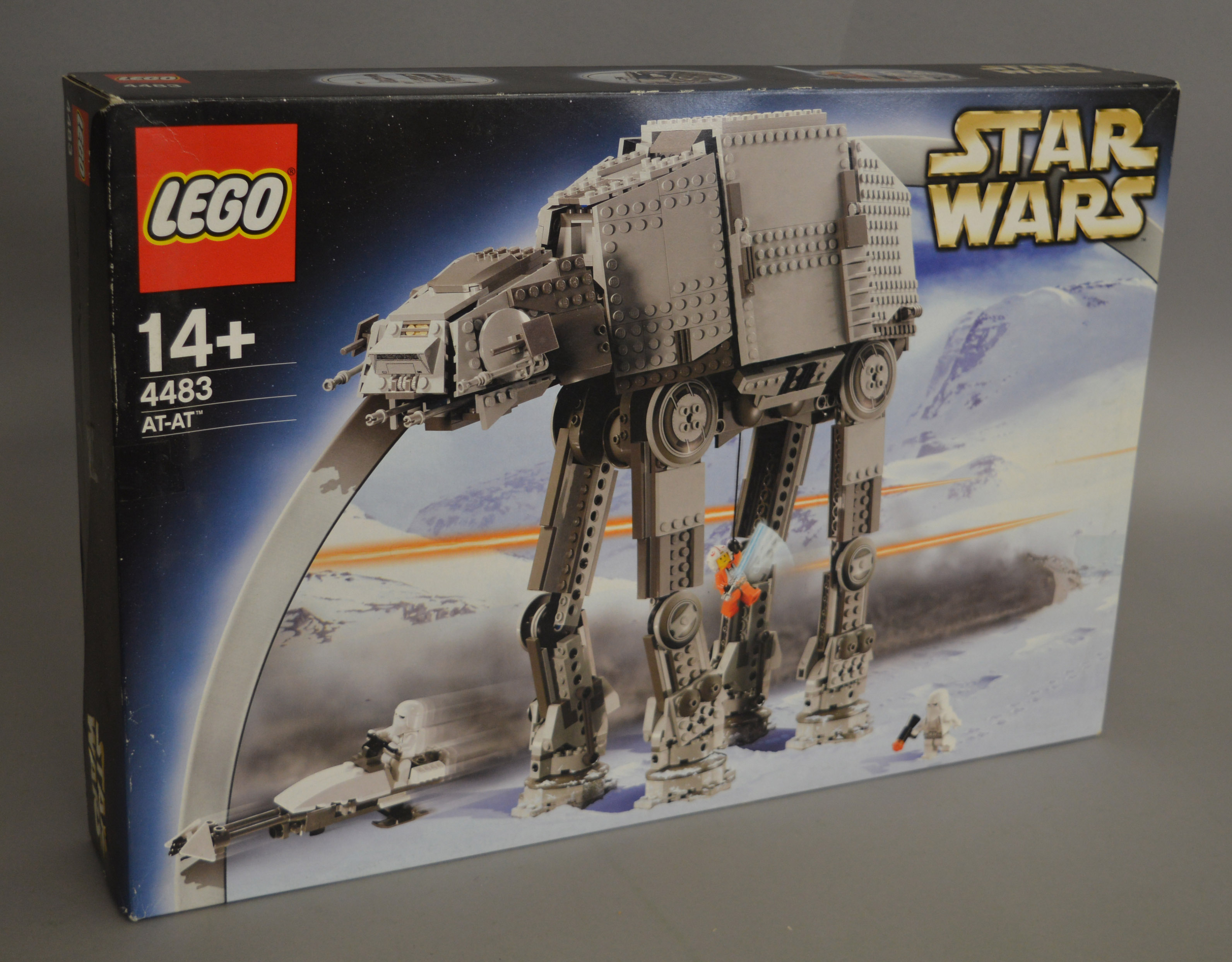 Lot 2 - Lego Star Wars 4483 'AT-AT', in generally G/G+ box with some undulation and creasing.