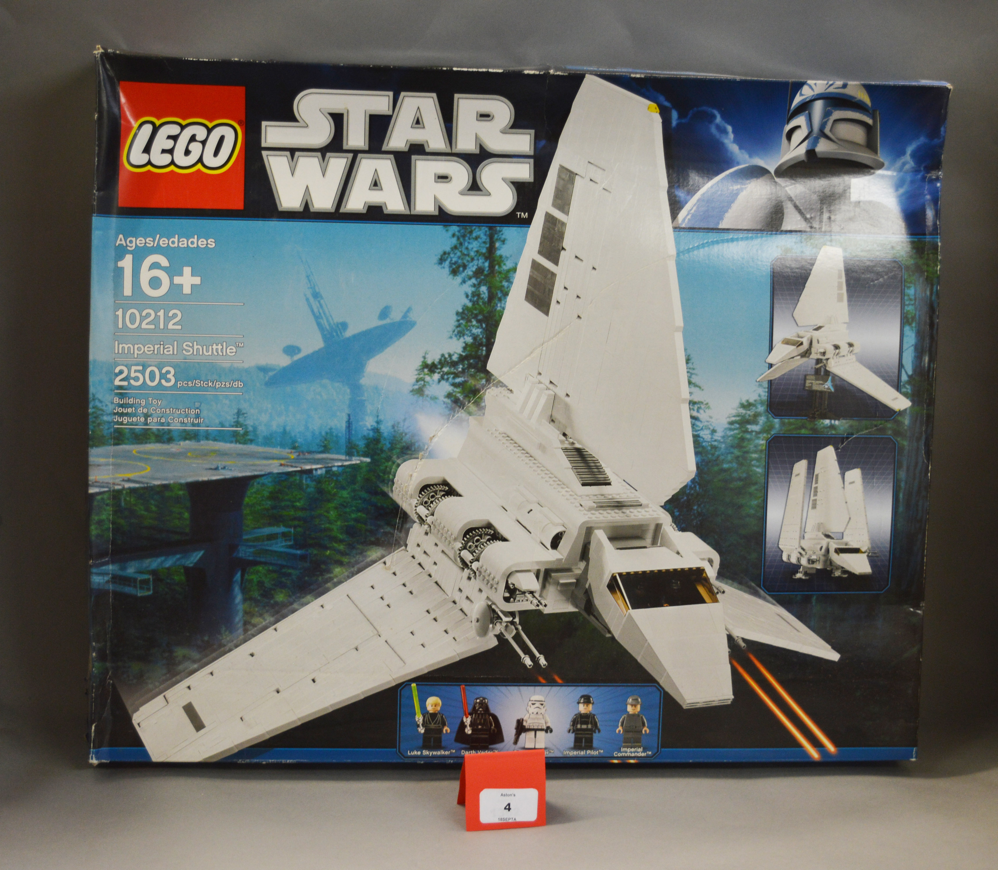 Lot 4 - Lego Star Wars 10212 Imperial Shuttle. Appears unopened in G box.