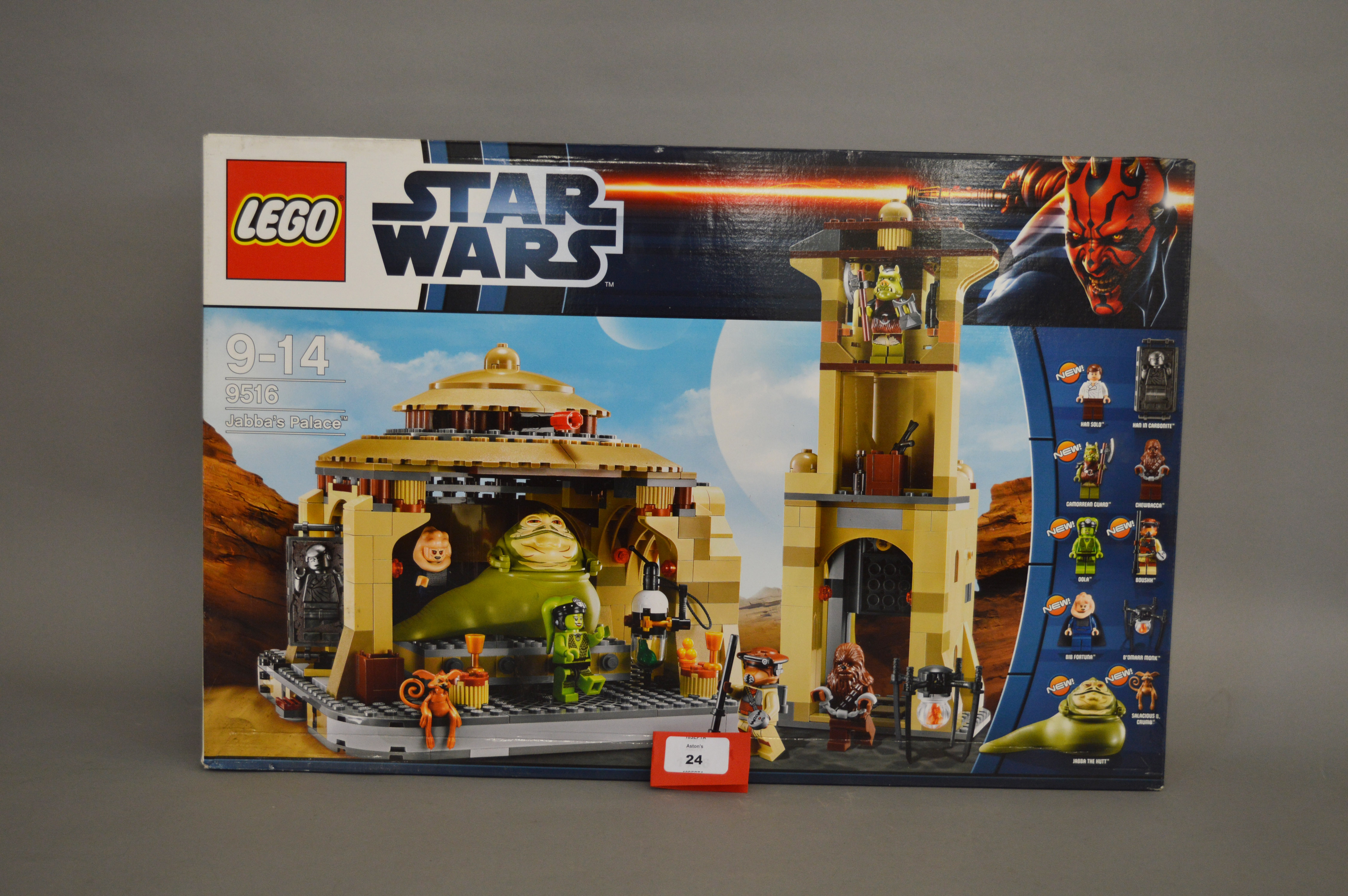 Lot 24 - Lego Star Wars 9516 'Jabba's Palace', sealed in generally G+/VG box with some creasing.