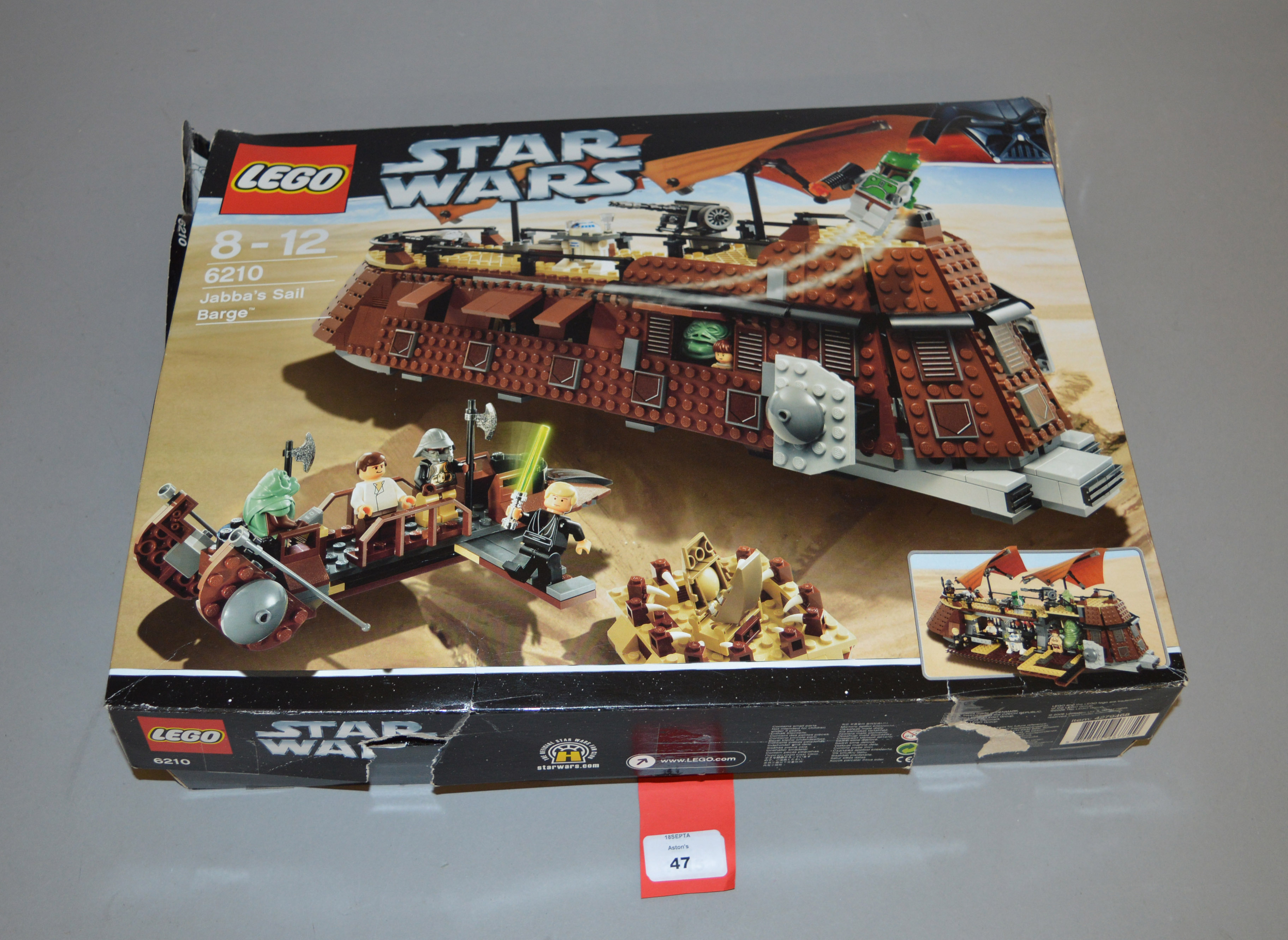 Lot 47 - Lego Star Wars 6210 Jabba's Sail Barge. In F-G box, not checked for completeness.