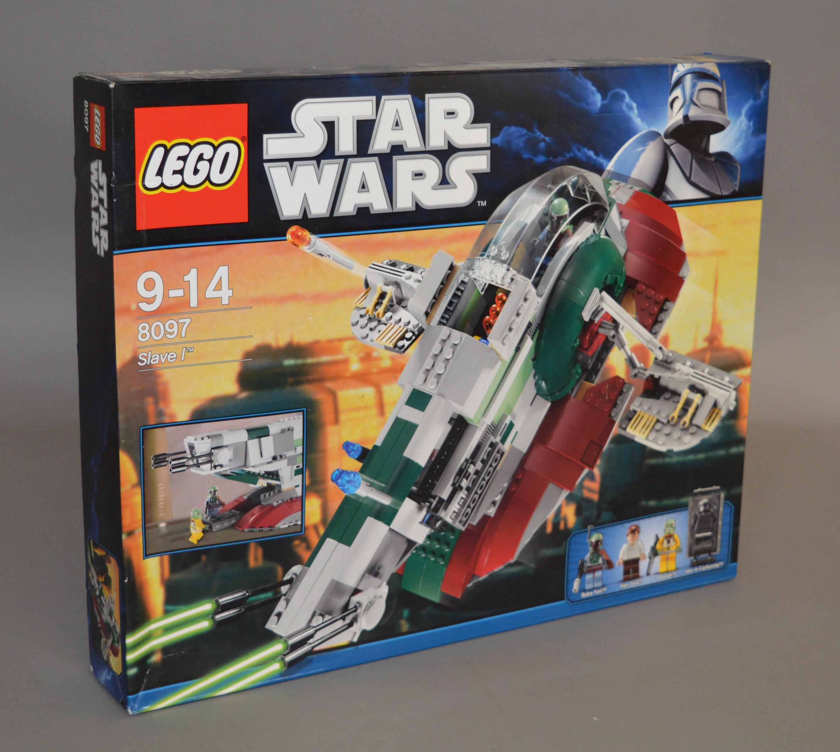 Lot 20 - Lego Star Wars 8097 'Slave I', in generally G/G+ box with some crushing and creasing.