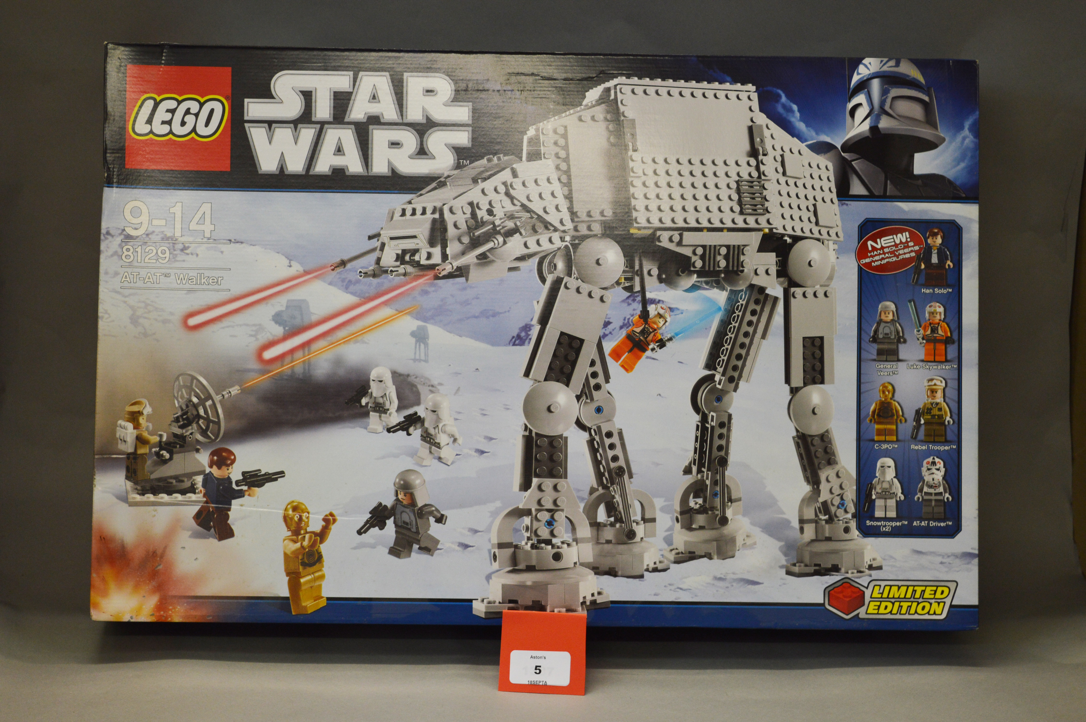 Lot 5 - Lego Star Wars 8129 AT-AT Walker. Sealed (one security seal part split).