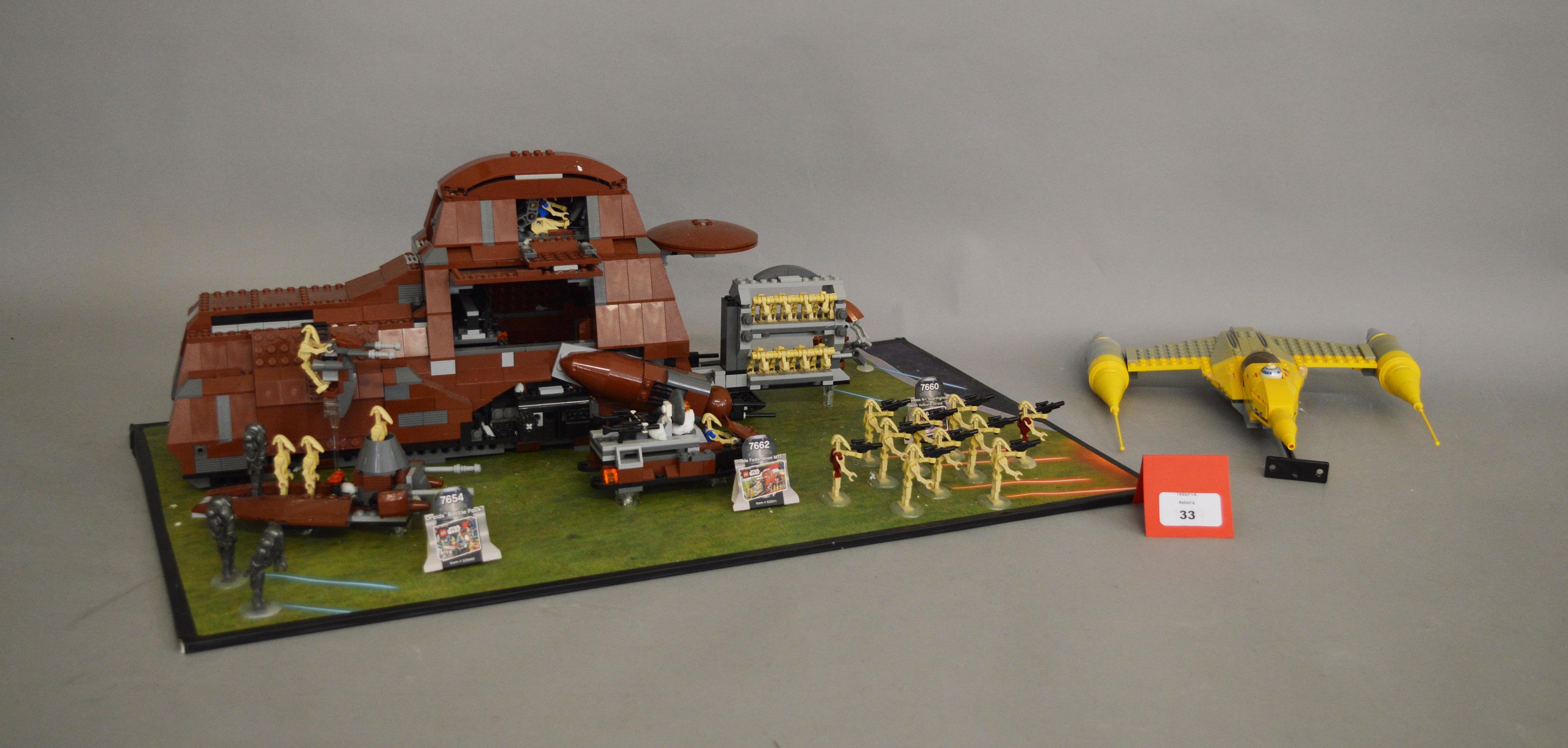 Lot 33 - Three Lego Star Wars sets,