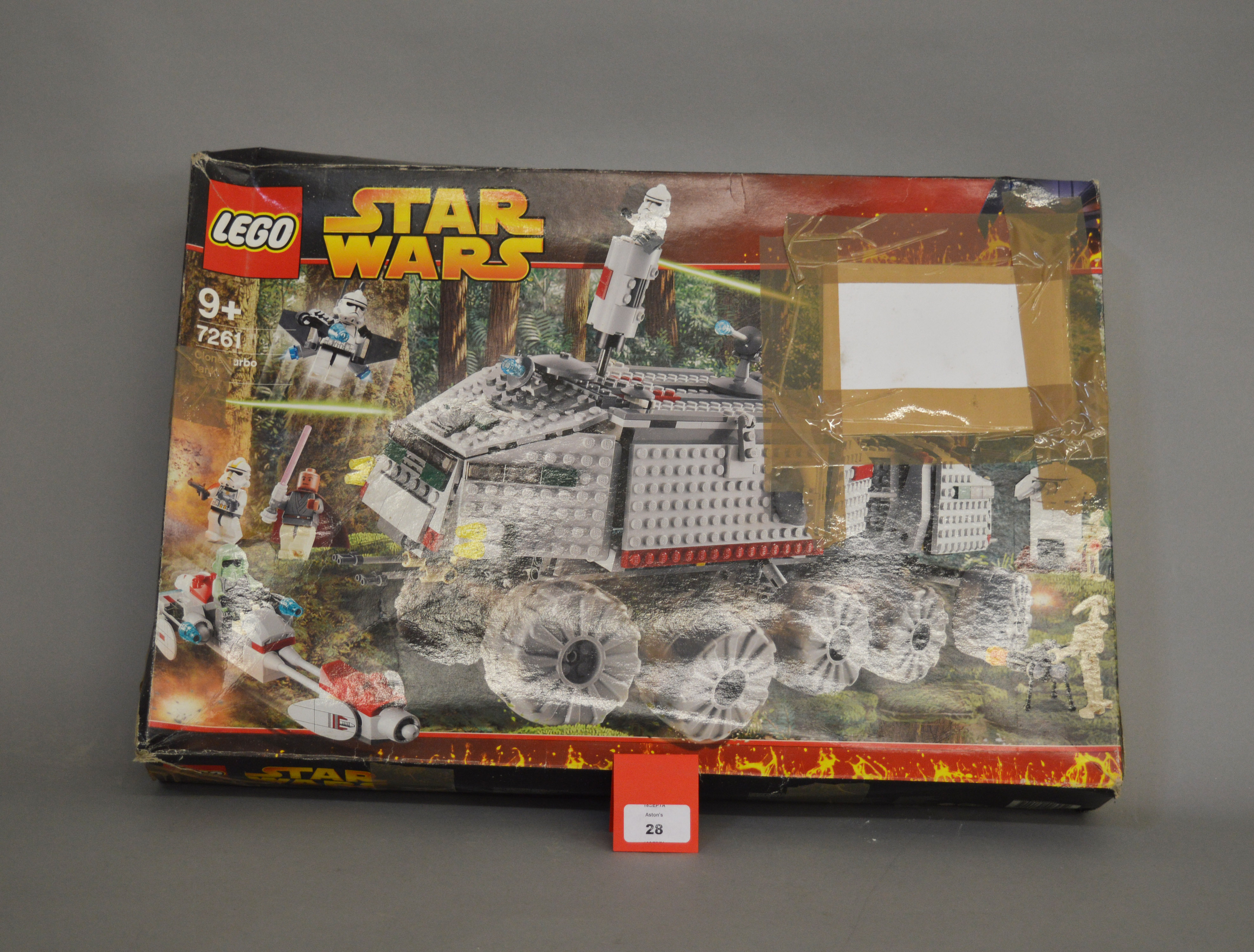 Lot 28 - Lego Star Wars 7261 Clone Turbo Tank. Opened in P-F box, not checked if complete.