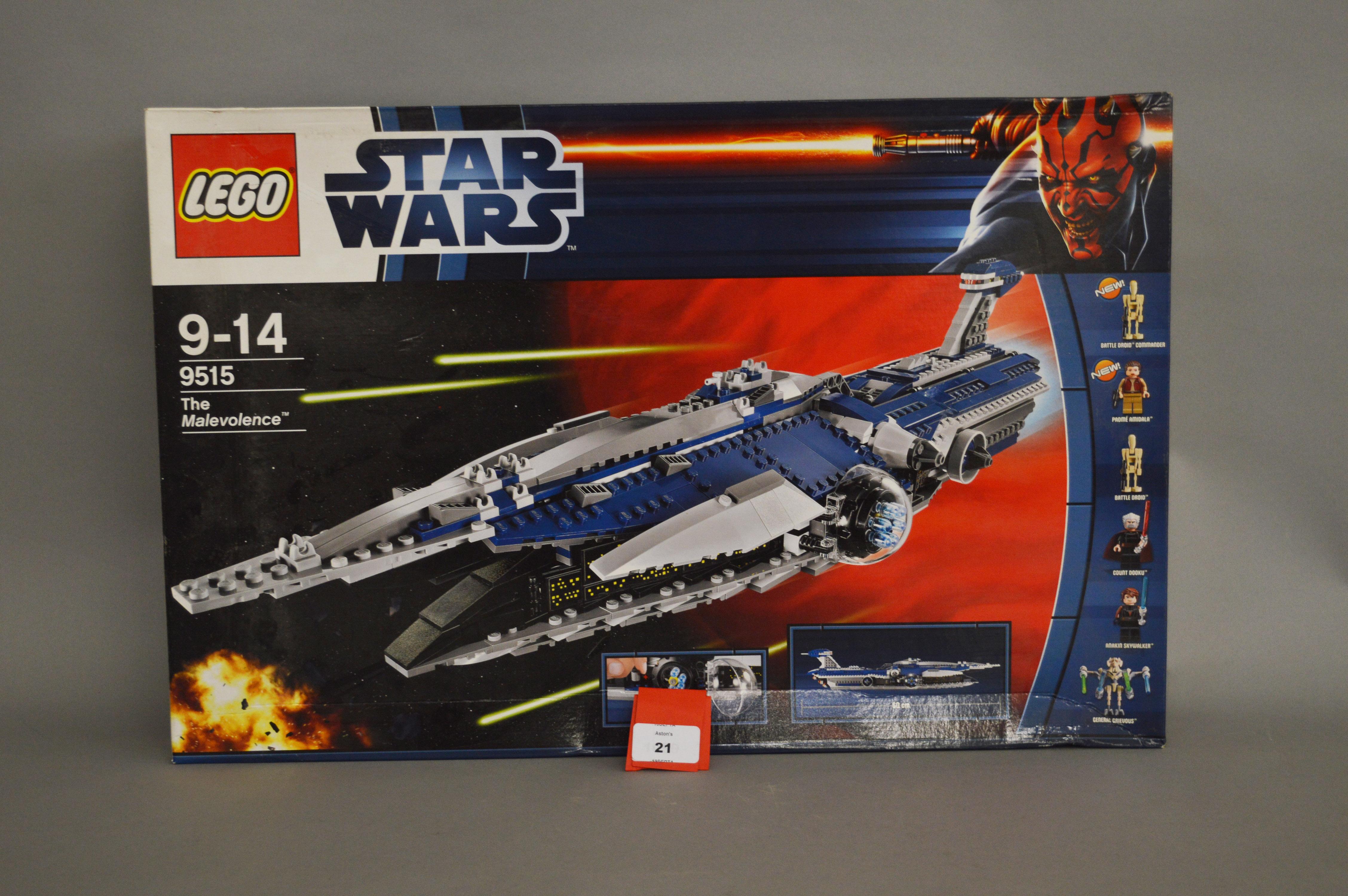 Lot 21 - Lego Star Wars 9515 'The Malevolence',
