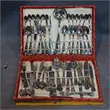 A cased silver plated cutlery service