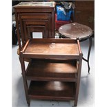 A reproduction nest of four tables in the oriental style,