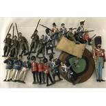 A collection of lead soldiers to include Britains.