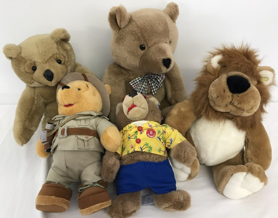 Lot 149 - 4 large bears to include Safari Winnie the Pooh from Disneyland, Paris.