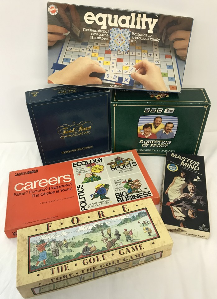 Lot 98 - A collection of 6 boxed c1970-80's board games.