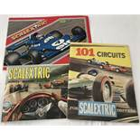 Scalextric - '101 Circuits' book (c1960's), and 2 catalogues 7th & 19th editions.